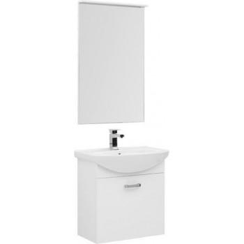 Комплект мебели для ванной Aquanet Ирис 65 белый (1 ящик)