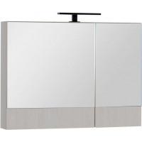Зеркало-шкаф Aquanet Тоника 90 (камерино) белый дуб
