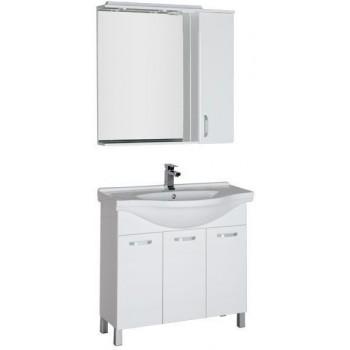 Комплект мебели для ванной Aquanet Глория 90 белый