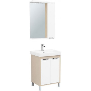 Комплект мебели для ванной Aquanet Гретта 60 New светлый дуб (2 дверцы)