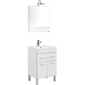 Комплект мебели для ванной Aquanet Верона NEW 58 белый (напольный 1 ящик 2 дверцы)