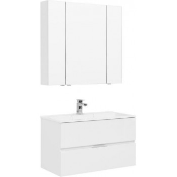 Комплект мебели для ванной Aquanet Алвита 90 белый