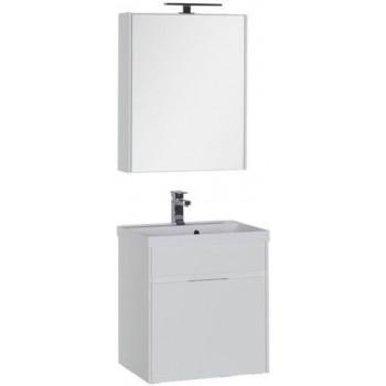 Комплект мебели для ванной Aquanet Латина 60 белый (1 ящик)