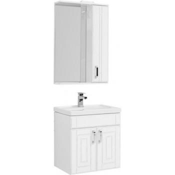 Комплект мебели для ванной Aquanet Рондо 60 белый антик (2 дверцы)