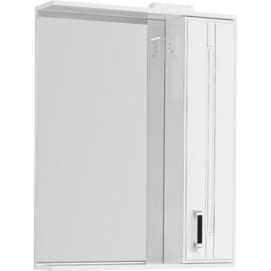 Зеркало-шкаф с подсветкой Aquanet Рондо 70 белый антик в интернет-магазине ROSESTAR фото