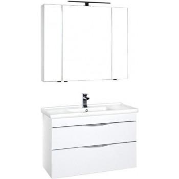 Комплект мебели для ванной Aquanet Эвора 100 белый