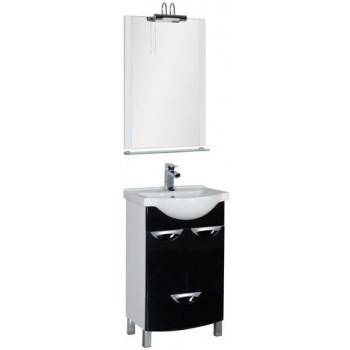 Комплект мебели для ванной Aquanet Асти 55 черный (2 дверцы 1 ящик)