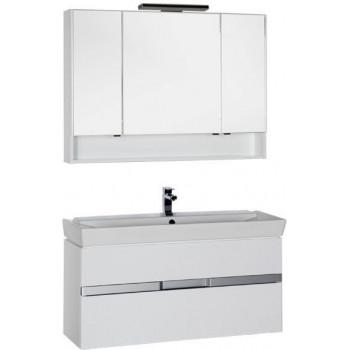 Комплект мебели для ванной Aquanet Виго 120 белый