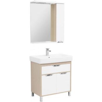 Комплект мебели для ванной Aquanet Гретта 80 New светлый дуб (1 ящик, 2 дверцы)
