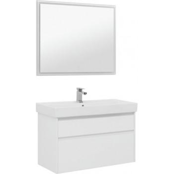Комплект мебели для ванной Aquanet Nova Lite 100 белый (2 ящика)