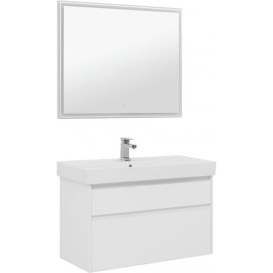 Комплект мебели для ванной Aquanet Nova Lite 100 белый (2 ящика) в интернет-магазине ROSESTAR фото