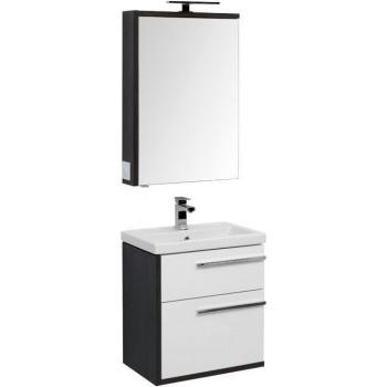 Комплект мебели для ванной Aquanet Фостер 60 эвкалипт мистери/белый