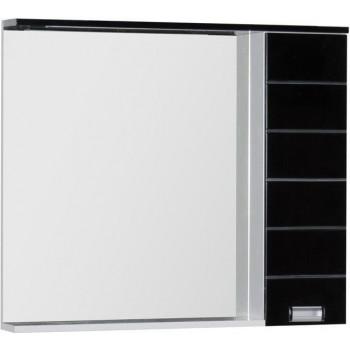 Зеркало-шкаф с подсветкой Aquanet Доминика 100 LED черный