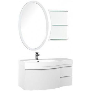 Комплект мебели для ванной Aquanet Опера 115 L белый (3 ящика)