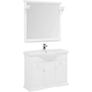 Комплект мебели для ванной Aquanet Лагуна Классик 105 белый