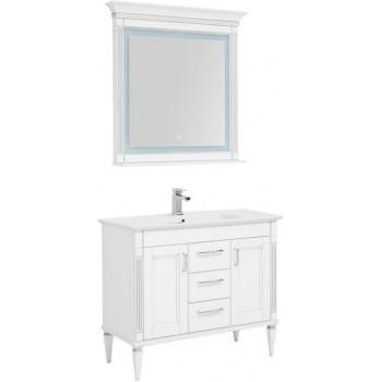 Комплект мебели для ванной Aquanet Селена 105 белый/серебро (3 ящика, 2 дверцы)