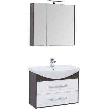 Комплект мебели для ванной Aquanet Остин 85 дуб кантербери/белый