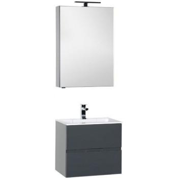 Комплект мебели для ванной Aquanet Алвита 60 серый антрацит