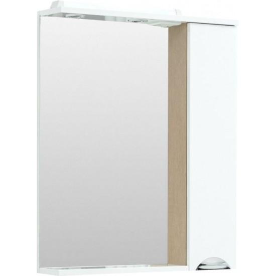 Зеркало-шкафс подсветкой Aquanet Гретта 70 светлый дуб в интернет-магазине ROSESTAR фото