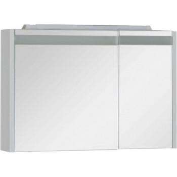 Зеркало-шкаф с подсветкой Aquanet Лайн 90 L белый