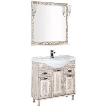Комплект мебели для ванной Aquanet Тесса 85 жасмин/сандал