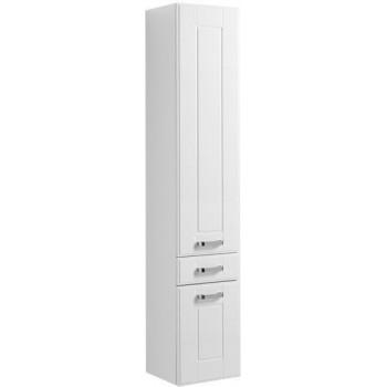 Шкаф-пенал для ванной Aquanet Рондо 35 белый (2 дверцы, 1 ящик)