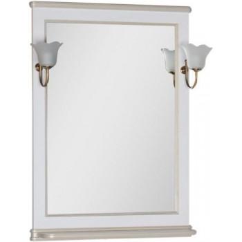 Зеркало Aquanet Валенса 70 белый краколет/золото