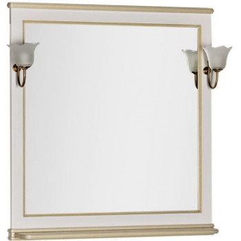 Зеркало Aquanet Валенса 90 белый краколет/золото