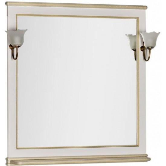 Зеркало Aquanet Валенса 90 белый краколет/золото в интернет-магазине ROSESTAR фото