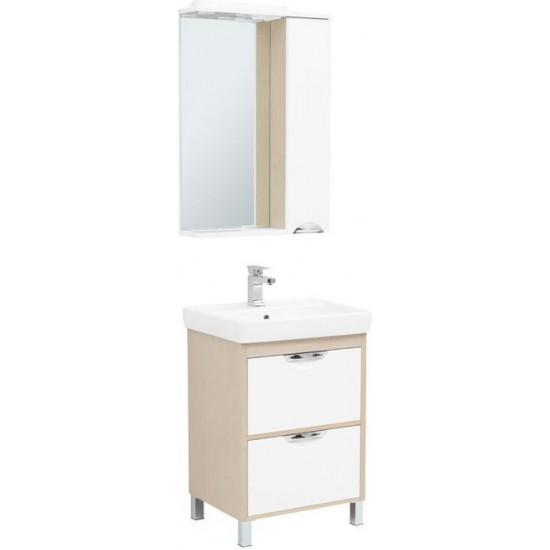 Комплект мебели для ванной Aquanet Гретта 60 New светлый дуб (2 ящика) в интернет-магазине ROSESTAR фото