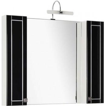 Зеркало-шкаф Aquanet Честер 105 черный/серебро