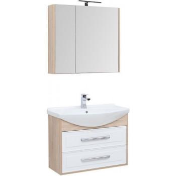 Комплект мебели для ванной Aquanet Остин 85 дуб сонома/белый