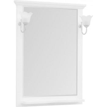Зеркало Aquanet Лагуна 75 белый