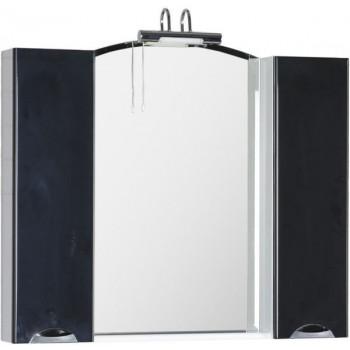 Зеркало-шкаф Aquanet Асти 105 черный