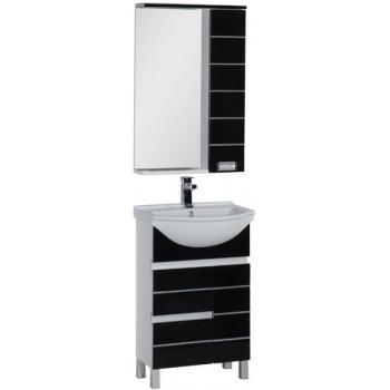 Комплект мебели для ванной Aquanet Доминика 55 черный