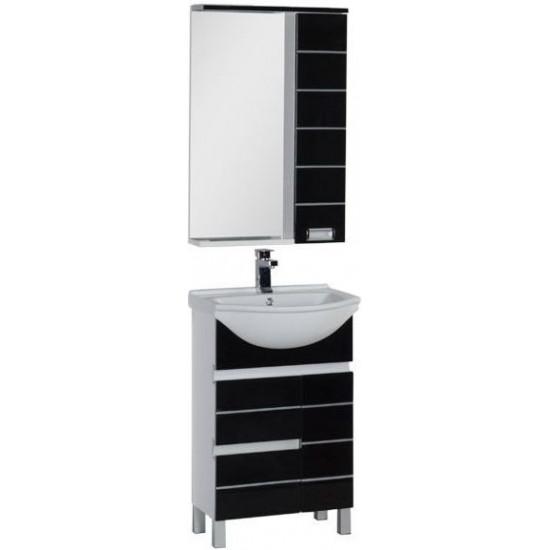 Комплект мебели для ванной Aquanet Доминика 55 черный в интернет-магазине ROSESTAR фото