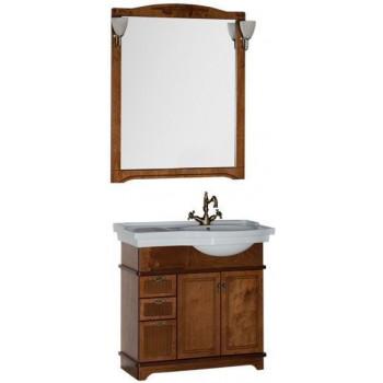 Комплект мебели для ванной Aquanet Луис 90 R темный орех