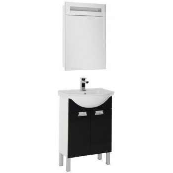 Комплект мебели для ванной Aquanet Адель 60 черный