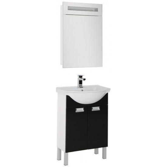 Комплект мебели для ванной Aquanet Адель 60 черный в интернет-магазине ROSESTAR фото