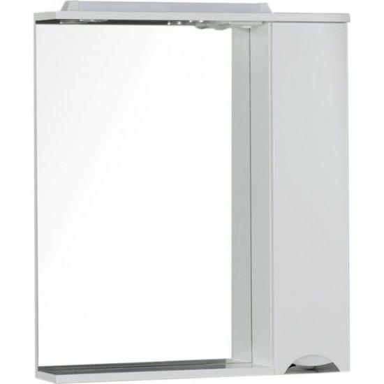 Зеркало-шкаф с подсветкой Aquanet Гретта 75 белый в интернет-магазине ROSESTAR фото