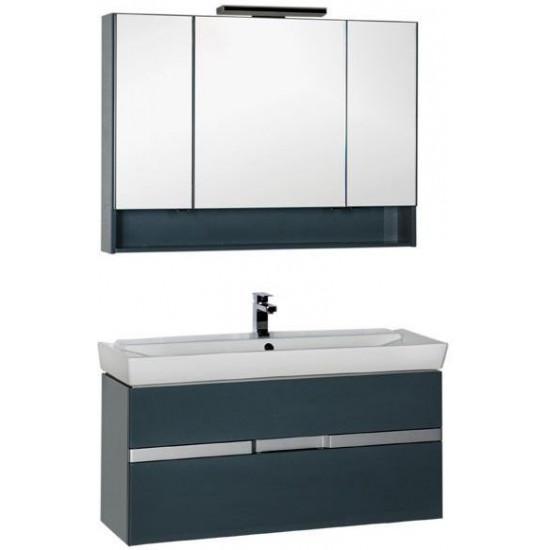 Комплект мебели для ванной Aquanet Виго 120 сине-серый в интернет-магазине ROSESTAR фото