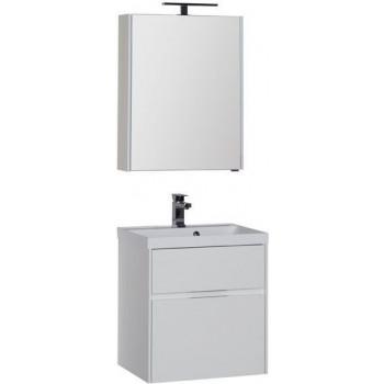 Комплект мебели для ванной Aquanet Латина 60 белый (2 ящика)