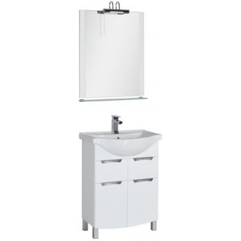 Комплект мебели для ванной Aquanet Асти 65 белый