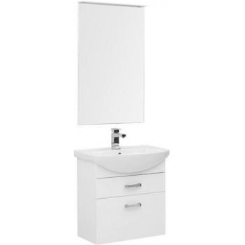 Комплект мебели для ванной Aquanet Ирис 65 белый (2 ящика)