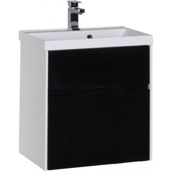 Тумба с раковиной Aquanet Латина 60 черный (2 ящика) в интернет-магазине ROSESTAR фото