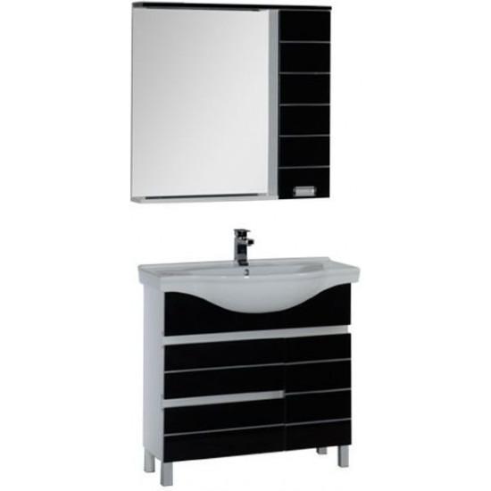 Комплект мебели для ванной Aquanet Доминика 90 черный в интернет-магазине ROSESTAR фото