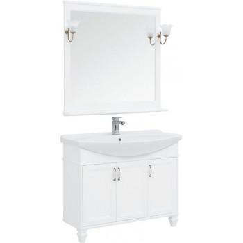 Комплект мебели для ванной Aquanet Валенса NEW 105 белый