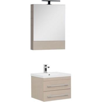 Комплект мебели для ванной Aquanet Нота NEW 58 светлый дуб (камерино)