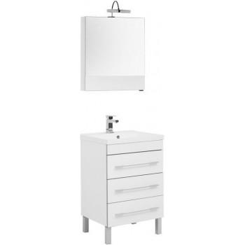 Комплект мебели для ванной Aquanet Верона NEW 58 белый (напольный 3 ящика)