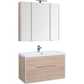 Комплект мебели для ванной Aquanet Августа 100 дуб сонома